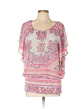Karen Scott Short Sleeve Blouse Size 1X (Plus)