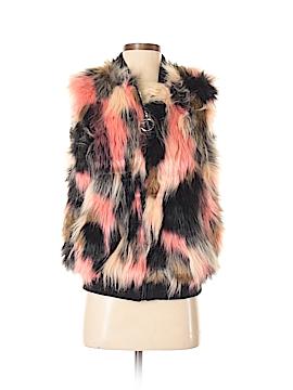 Thread & Supply Faux Fur Vest Size S