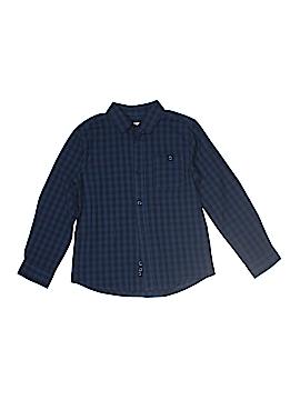 Monoprix Long Sleeve Button-Down Shirt Size 8