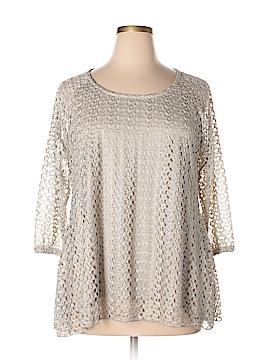 Covington 3/4 Sleeve Blouse Size 1X (Plus)