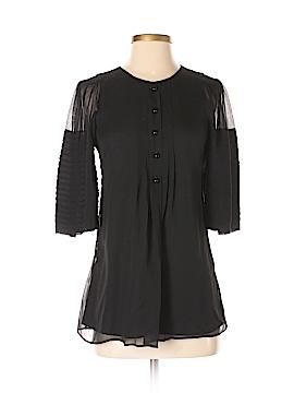 Robert Rodriguez 3/4 Sleeve Silk Top Size 6