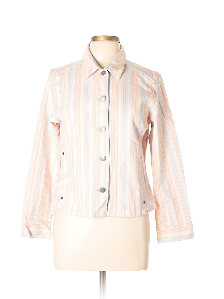 Sigrid Olsen Women Denim Jacket Size L