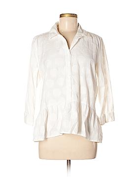 Isabella Sinclair 3/4 Sleeve Button-Down Shirt Size M