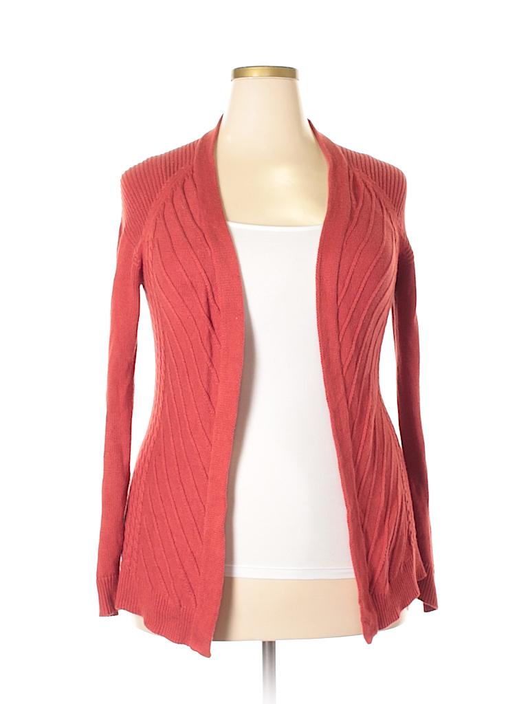 c019d7acc024e8 Belldini Solid Orange Cardigan Size L - 79% off