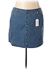 Style&Co Women Denim Skirt Size 24 (Plus)