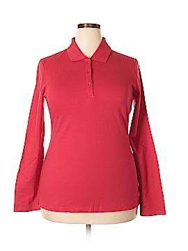 Arizona Jean Company Long Sleeve Polo Size 1X (Plus)