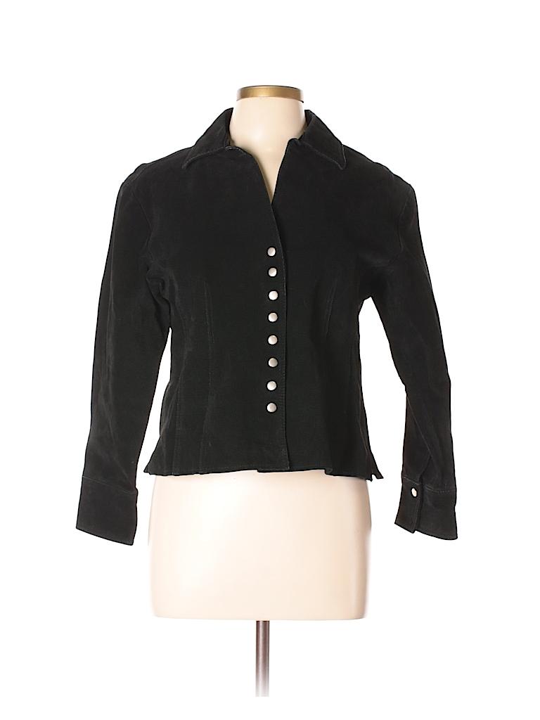 Coldwater Creek Women Leather Jacket Size L (Petite)