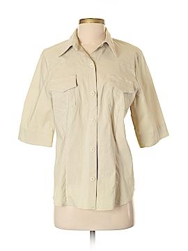 Harve Benard Short Sleeve Button-Down Shirt Size 8
