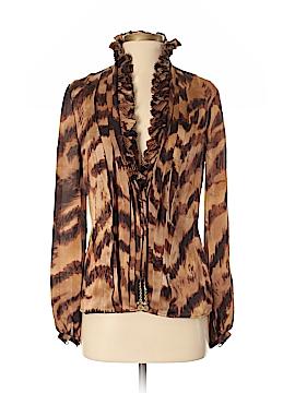 Carlisle Long Sleeve Silk Top Size 2