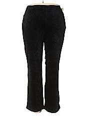 Catherines Women Velour Pants Size 1X (Plus)