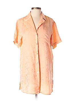 August Silk Short Sleeve Silk Top Size M