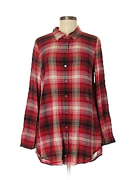 Chloe K Long Sleeve Button-Down Shirt Size L