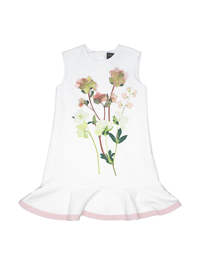 Victoria Beckham For Target Floral Beige Dress Size S Kids 67