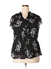 INC International Concepts Women Short Sleeve Blouse Size 1X (Plus)