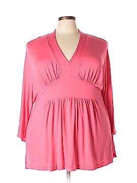 Melissa McCarthy Seven7 3/4 Sleeve Top Size 3X (Plus)