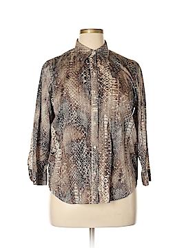 Lauren by Ralph Lauren 3/4 Sleeve Button-Down Shirt Size XL