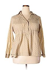Apollo Women Long Sleeve Blouse Size 1X (Plus)