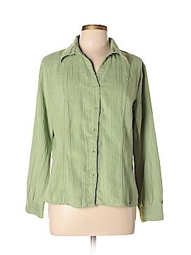 Lemon Grass Long Sleeve Button-Down Shirt Size XL