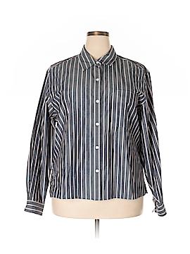 Villager Sport by Liz Claiborne Long Sleeve Button-Down Shirt Size 3X (Plus)