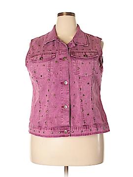 DG^2 by Diane Gilman Denim Vest Size 1X (Plus)
