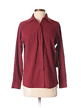 Jane Ashley Long Sleeve Button-Down Shirt Size S