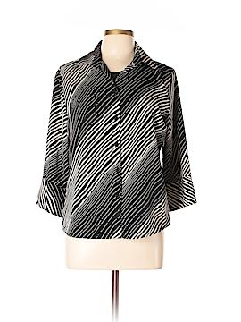 Impressions 3/4 Sleeve Blouse Size M