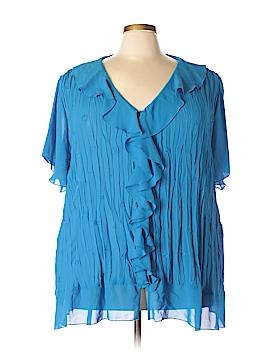 Maggie Barnes Short Sleeve Blouse Size 4X (Plus)