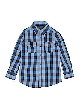 Swiss Cross Long Sleeve Button-Down Shirt Size 8