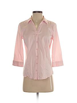 Dana Buchman 3/4 Sleeve Button-Down Shirt Size S
