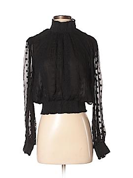 Astr Long Sleeve Silk Top Size S