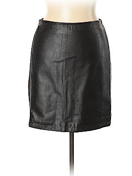 Trussardi Leather Skirt Size 46 (IT)
