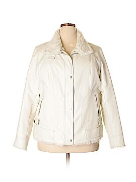 DressBarn Faux Leather Jacket Size 18 - 20 (Plus)