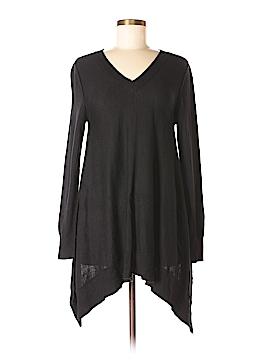Vertical Design Pullover Sweater Size M