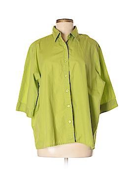 Haband! 3/4 Sleeve Button-Down Shirt Size XL