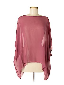 Eileen Fisher 3/4 Sleeve Silk Top Size M