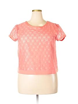 LC Lauren Conrad Short Sleeve Blouse Size XL