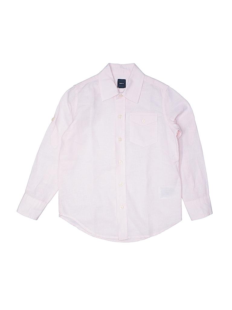 Gap Kids Girls Long Sleeve Button-Down Shirt Size 6-7