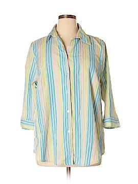 Kim Rogers 3/4 Sleeve Button-Down Shirt Size 20 (Plus)