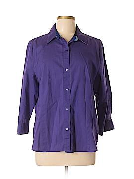 Jones New York Short Sleeve Button-Down Shirt Size XL