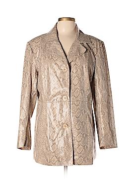 FU DA Faux Leather Jacket Size L