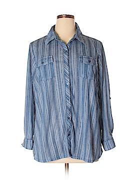 Como Vintage Long Sleeve Button-Down Shirt Size 2X (Plus)