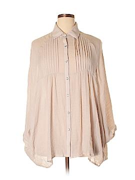 Lady Noiz Long Sleeve Button-Down Shirt Size 2X (Plus)