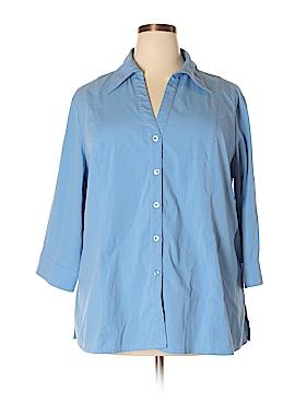 Apostrophe Long Sleeve Button-Down Shirt Size 22w (Plus)