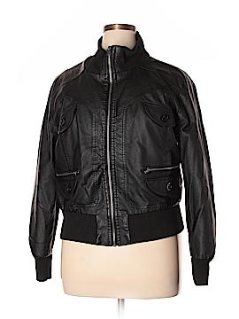 Ambiance Apparel Faux Leather Jacket Size 1X (Plus)