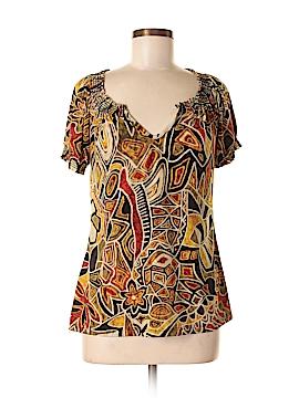 Perseption Concept Short Sleeve Blouse Size M