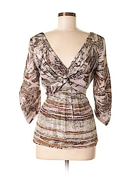 BCBGMAXAZRIA 3/4 Sleeve Silk Top Size M