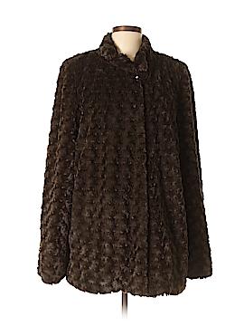 Dennis by Dennis Basso Faux Fur Jacket Size L