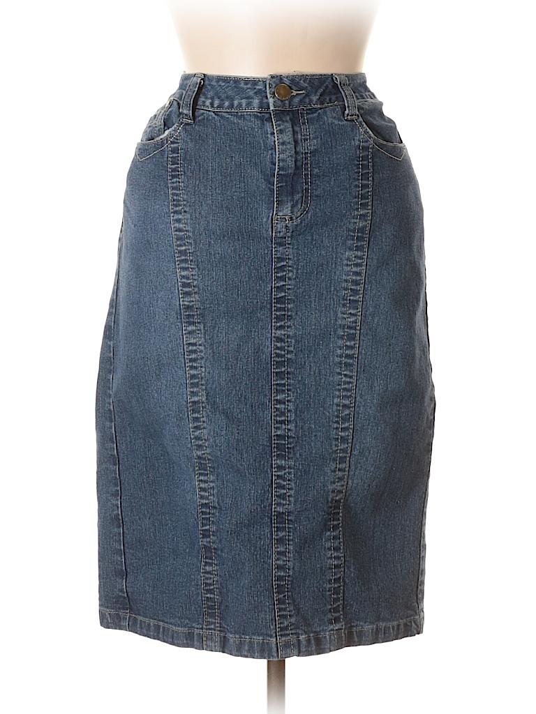 c1b4faefab Cato Solid Navy Blue Denim Skirt Size 8 - 59% off | thredUP