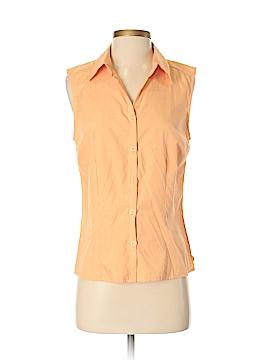 Harve Benard by Benard Haltzman Sleeveless Button-Down Shirt Size S