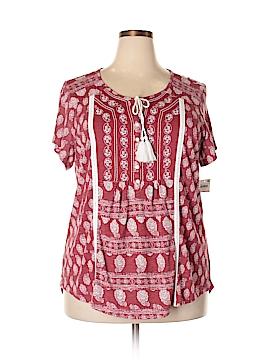 Style&Co Short Sleeve Henley Size 2X (Plus)
